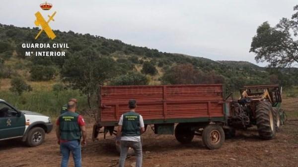Dos detenidos y cuatro investigados por robos en explotaciones agroganaderas en la provincia de Cáceres