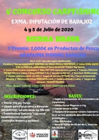 El embalse de Sierra Brava acogerá el V Concurso Nacional de Carp Fishing