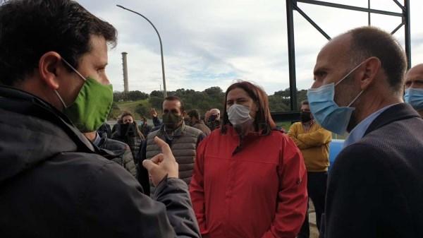 Begoña García valora las obras de emergencia ejecutadas en Peraleda de la Mata para asegurar suministro hídrico a regantes