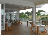 Bar con Gran terraza sobre el puerto de Ciutadella