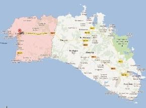mapa ciutadella