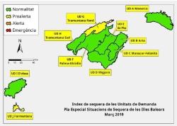 Las reservas hídricas de las Illes Balears descienden hasta el 64%