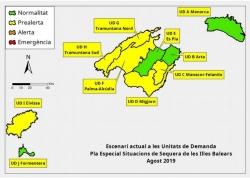 Las reservas hídricas de las Islas Baleares se situan en el 49 %