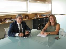 La Presidenta Susana Mora recibe la primera visita oficial del presidente del Parlamento, Vicenç Thomas