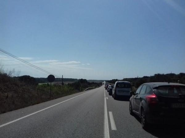 Las obras de mejora de la carretera Me-1 entre Ferreries y Ciutadella entran en una segunda fase