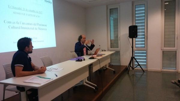 Buena participación en la sesión informativa-deliberativa del Inventario del Patrimonio Cultural Inmaterial de Menorca
