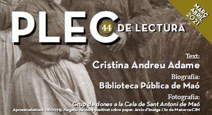 Plec de lectura 44 dedicat a Cristina Andreu Adame