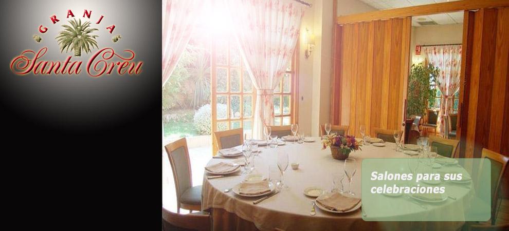 Restaurante Granja Santa Creu, celebraciones y eventos familiares en ribarroja