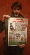 El actor Fernando Tejero también apoya el 10º desfile de perros abandonados AUPA-BIOPARC de este sábado