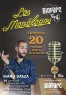 Manu Baeza en los Monólogos a BIOPARC Café  este viernes 20 de octubre