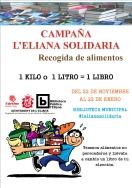 Alimentos a cambio de libros en la campaña solidaria de la biblioteca de l'Eliana