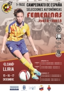Llíria acoge la 1ª fase del Campeonato de España de Fútbol de selecciones autonómicas femeninas Sub-16 y Sub-18