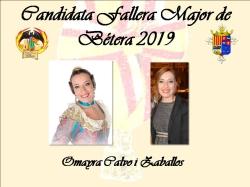 CANDIDATAS FALLERA MAYOR Y FALLERA MAYOR INFANTIL DE BETERA PARA LAS FALLAS 2019