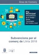 EL AYUNTAMIENTO DE LLIRIA CONVOCA EL PLAN DE AYUDAS AL COMERCIO LOCAL 2018