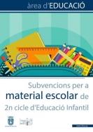 Se abre el periodo de solicitud de las subvenciones municipales para material escolar del 2.º ciclo de Infantil
