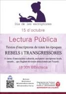 LA BIBLIOTECA MUNICIPAL DE L'ELIANA CELEBRA EL DIA DE LES ESCRIPTORES EL PRÒXIM 15 D'OCTUBRE.