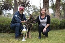 La Alcaldesa de Bétera recibe a Vicente Ferré y a su perro Galax tras lograr clasificarse entre los 10 mejores del mundo en el Mundial  Adiestramiento
