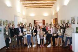 La Corporación recibe al Club Gimnasia Rítmica Llíria por su último éxito en la Copa de la Reina