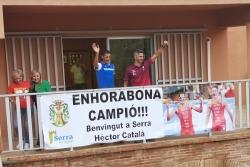 Serra recibe como un campeón a Héctor Catalá