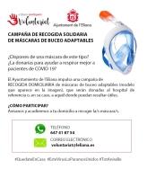 Desde Voluntariado se inicia una campaña de recogida solidaria de máscaras de buceo en l'Eliana