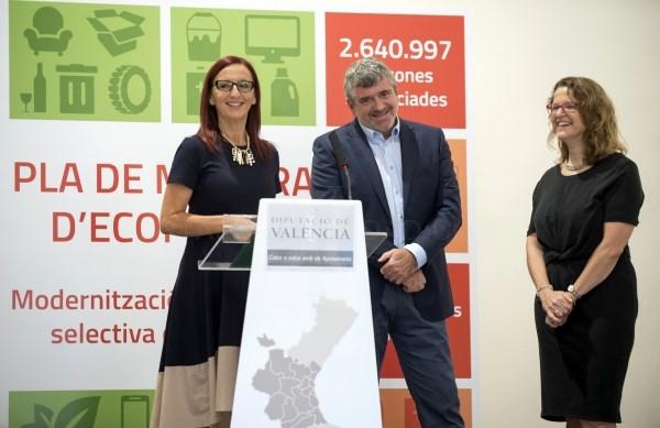La Diputación invertirá 1,2 millones en la modernización del sistema de recogida y gestión selectiva de residuos en los cinco Consorcios de València