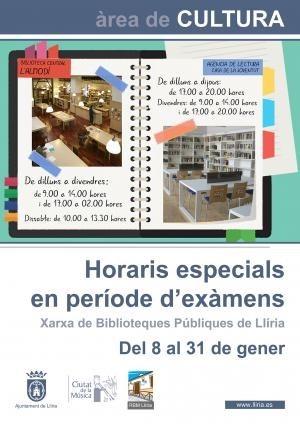 La Biblioteca l'Almodí abrirá hasta las 02.00 horas en el período especial de exámenes