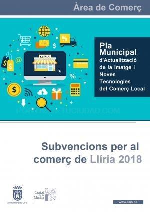 El Ayuntamiento de Llíria convoca el plan de ayudas al comercio local 2018