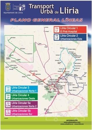 El Ayuntamiento de Llíria amplía las líneas del autobús urbano