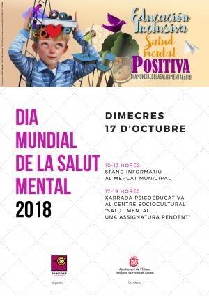 L'Eliana conmemorará el Día Mundial de la Salud Mental