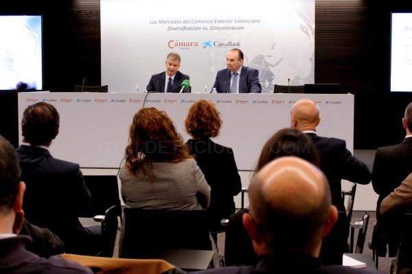 Cámara Valencia y CaixaBank presentan el informe sobre mercados del comercio exterior valenciano