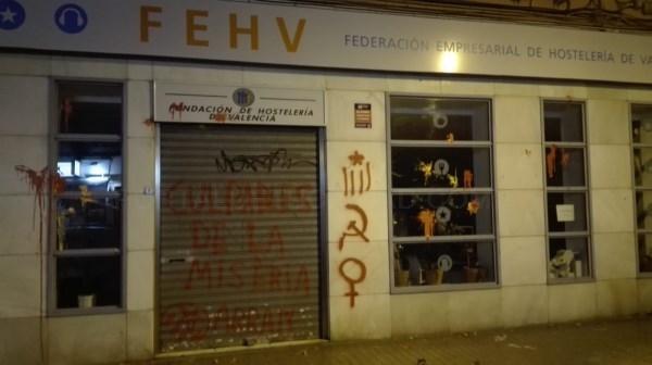 La Federación Empresarial de Hostelería de Valencia quiere denunciar el ataque vinculado a ARRAN