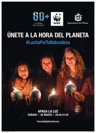 L'Eliana s'uneix un any més a l'Hora del Planeta