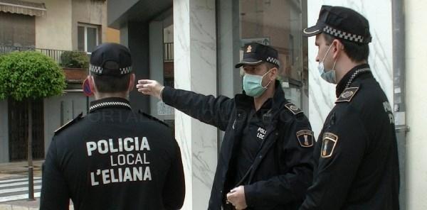 La Policía Local de l'Eliana participa en la detención de dos presuntos delincuentes