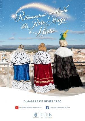 La llegada de los Reyes Magos a Llíria será retransmitida por los canales municipales de Facebook y YouTube