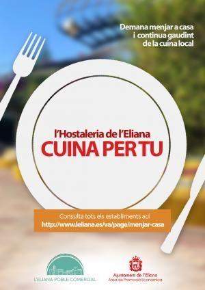 Una quincena de bares y restaurantes de l'Eliana ofrecen el servicio de comida para llevar