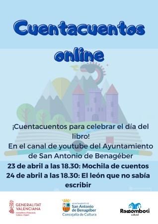 San Antonio de Benagéber celebrará el Día del Libro 2021 con dos cuentacuentos online