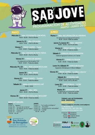 SABJOVE presenta su programación de actividades para mayo y junio