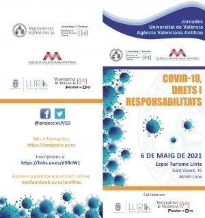La Universitat de València y la Agència Valenciana Antifrau ofrecen en Llíria la jornada 'COVID-19, drets i responsabilitats'