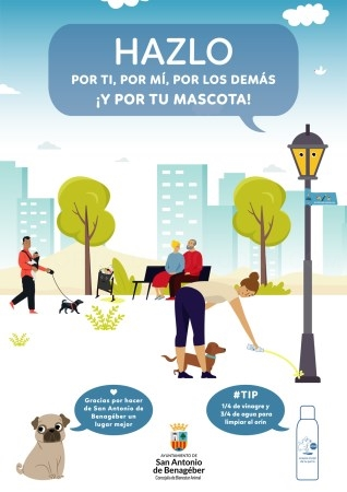 La Concejalía de Bienestar Animal de San Antonio de Benagéber impulsa la campaña elpipimedestruye por la limpieza de las necesidades de las mascotas