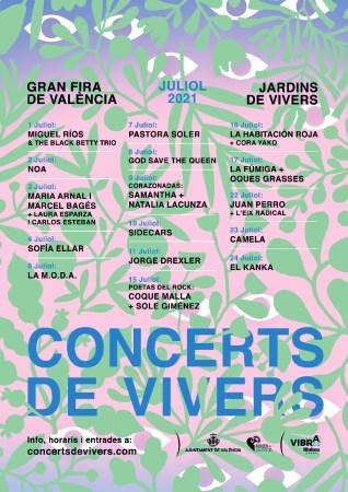 El Ayuntamiento de València presenta los Conciertos de Viveros 2021