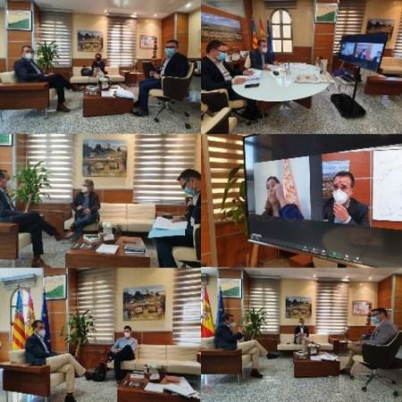 Las inversiones y los retos de futuro marcan la ronda de encuentros del alcalde de Riba-roja con los portavoces políticos