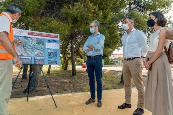 La Generalitat invierte más de 1,3 millones de euros en la CV-35 a la altura de San Antonio de Benagéber para mejorar 'la vida diaria' de sus habitant
