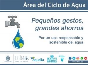El Ayuntamiento de Llíria y Aqualia lanzan la campaña 'Pequeños gestos, grandes ahorros'