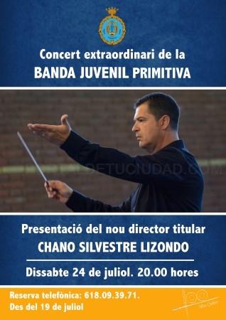 La Banda Juvenil de Lliria presenta el seu director titular, Chano Silvestre Lizondo, en un concert extraordinari