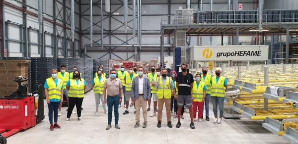 Riba-roja i Hefame inicien la formació de 40 professionals en automatització de magatzem