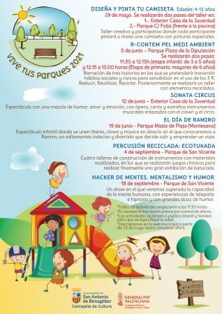 """Torna """"Vive tus parques"""" a Sant Antoni de Benaixeve el pròxim dissabte amb el taller de percussió reciclada Ecotukada"""