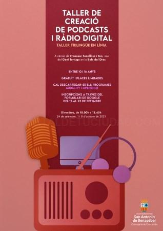 Nou taller de creació de podcast i ràdio digital a Sant Antoni de Benaixeve
