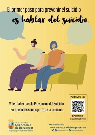 El equipo de Servicios Sociales lanza una campaña de prevención del suicidio en San Antonio de Benagéber