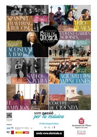 La XVII edición de 5 Segles de Música a l'Eliana arranca este sábado