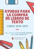 El Ayuntamiento publica los listados provisionales de las ayudas para la compra de libros de texto del curso 2018-2019